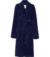 hotel velour robe ochtendjas blauw lexington home