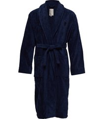 hotel velour robe ochtendjas blauw lexington home