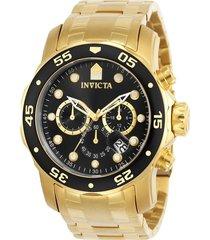 reloj invicta 0072 oro acero inoxidable