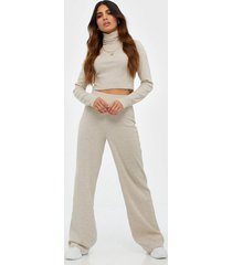 nly trend cozy rib turtleneck set jumpsuits