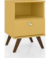 mesa de cabeceira c/1 gaveta mã³vel bento amarelo - amarelo - dafiti