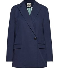 bettina blazer blackish blue blazer colbert blauw twist & tango