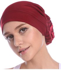berretto da donna in chiffon best elast flower beanie cappellino bonnet casual outdoor vacation chemo cap