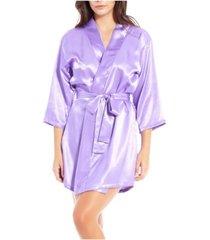 icollection-lila satin ultra soft lounge robe, wrap
