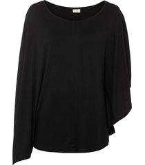 maglia monospalla (nero) - bodyflirt boutique