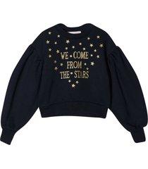 alberta ferretti blue sweater