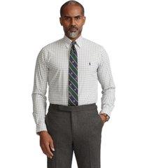 polo ralph lauren men's big & tall gingham poplin shirt