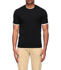 paolo pecora t-shirt paolo pecora crew neck sweater with contrasts