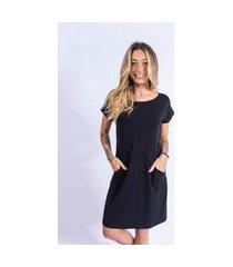 vestido camisetão bolso up side wear preto
