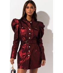 akira in flames metallic denim mini dress