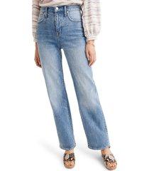 women's madewell slim wide-leg full-length jeans