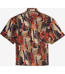 printed silk shirt grey 54