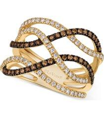 le vian chocolatier diamond statement ring (3/4 ct. t.w.) in 14k gold