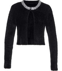 bolero in maglia con paillettes (nero) - bpc selection premium