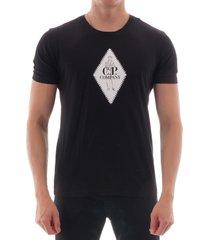 cp company | diamond tee - black | 102a-5100w 999 ss tee
