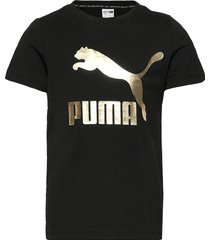 classics logo tee g t-shirts short-sleeved svart puma