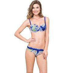 bikini vestido de baño azul kibys