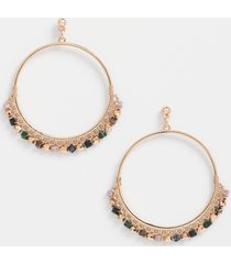 maurices womens beaded drop hoop earrings