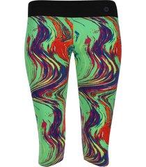 legging deportivo estampado trama verde y azul color rojo, talla s