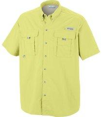 camisa hombre bahama ii mc amarillo columbia