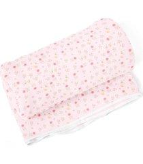 cobertor papi floral rosa - rosa - menina - dafiti