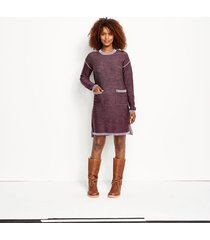 two-tone signature merino sweater dress