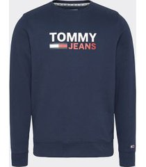 tommy hilfiger men's slim fit logo sweatshirt twilight navy - xs