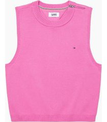 tommy hilfiger women's adaptive tank sweater whimsical violet - l