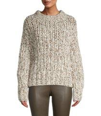 theory women's wool & cashmere hand-knit sweater - ecru - size s