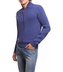 chaleco zipper basico azul ferouch