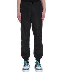 marcelo burlon cross joggins pants in black cotton