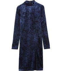 vestido manga larga plush azul nicopoly