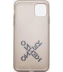 kenzo iphone 11 pro max sport silicone phone case - black
