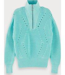 scotch & soda cotton-blend chunky knit pullover