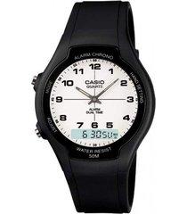 reloj aw-90h-7b casio negro