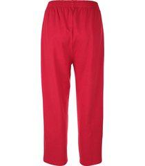 mjuka capribyxor med midjeresår dress in röd