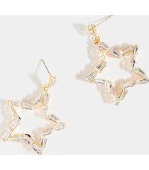 women's allie cz star drop earrings in gold by francesca's - size: one size