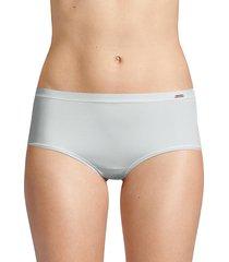 le mystere infinite comfort brief panties - platinum grey - size s/m