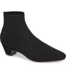 women's eileen fisher purl sock bootie, size 6 m - black