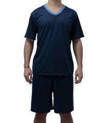 conjunto de pijama curto touro boots masculino azul - kanui