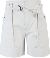 isabel marant étoile side buttoned belted shorts