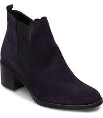 woms boots shoes boots ankle boots ankle boot - heel blå tamaris