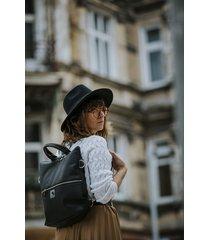 czarny plecak / torba 2 w 1 ze skóry eko