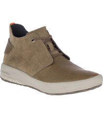botin hombre gridway mid leather verde merrell