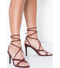 nly shoes crossed multi strap heel high heel