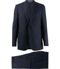 canali formal two piece suit - blue