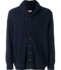 n.peal kensington button front cardigan - blue