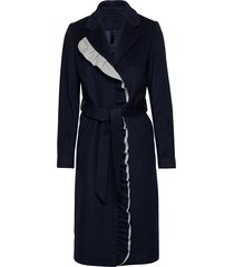 2nd addy outerwear coats wool coats blauw 2ndday