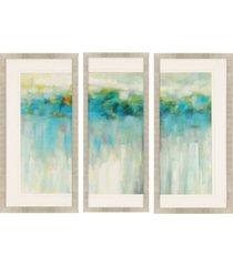 "paragon lights on the beach framed wall art set of 3, 39"" x 19"""