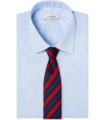 cravatta su misura, lanieri, regimental riga regular blu e bordeux, quattro stagioni